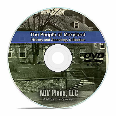 Maryland MD, People, Civil War Stories History and Genealogy 67 Books DVD CD B05