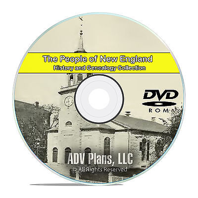 New England People, Cities and Family History and Genealogy 157 Books DVD CD B24