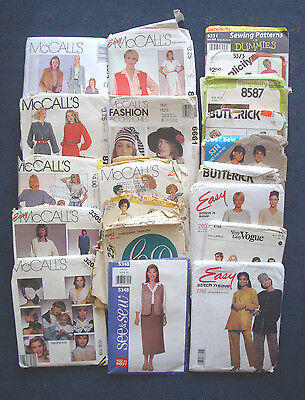 lot of 20 vintage used patterns sm sz 6-10 McCall's Vogue Butterick