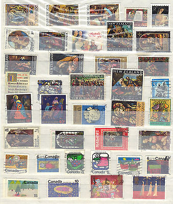 CHRISTMAS Commonwealth Thematic Stamp Collection Mint Used  Ref:E986