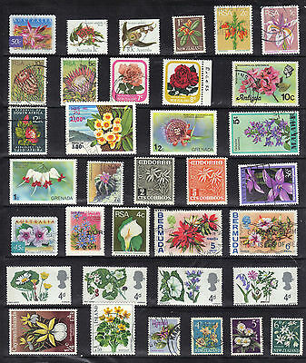 FLOWERS Thematic STAMP COLLECTION Mint Used RE:E974
