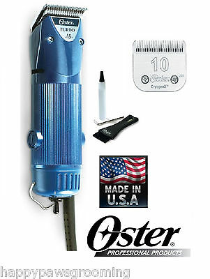 Oster A5 Turbo 2 Speed Clipper & CryogenX 10 Blade Dog Horse Grooming*NEW MODEL