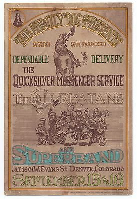 1967 Family Dog Handbill Charlatans & Quicksilver Messenger Service Denver CO