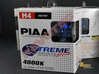 Piaa H4 Xtreme White Plus Light Bulbs Twin Pack 15224