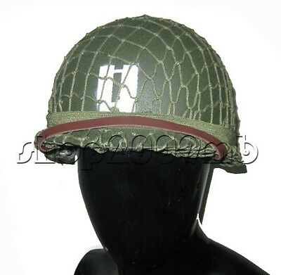 Hot Sale Memory Collectable Perfect WW2 WWII US ARMY M1 GREEN HELMET COTTON NET