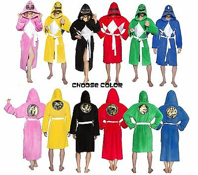 Choose Color: Adult TV Show Mighty Morphin Power Rangers Ranger Costume Robe