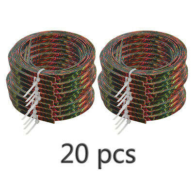 20pcs Colorful Celluloid Guitar Binding Purfling Body Project Strip 1650x5x1.5mm