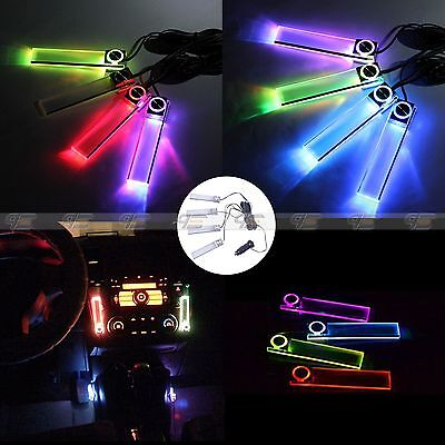 Hot Colorful 12V 4LED Car Auto Interior Atmosphere Lights Decoration Lamp Light