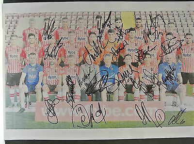 12 x 8 inch photo personally signed by 19 of the 2014-15 Exeter City squad.