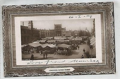 england leicestershire postcard english market place leicester