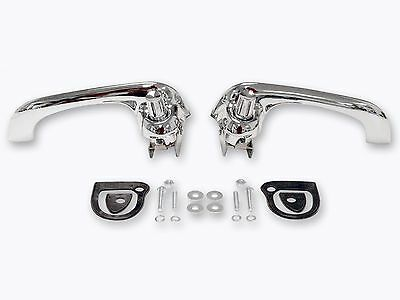 1964-66 1969-70 Ford Falcon Bronco Mustang Outside Door Handles CHROME PAIR