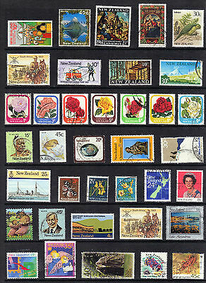 NEW ZEALAND QEII Stamp Collection DEFINS COMMEMS Used REF:E903