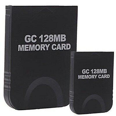 2x 128MB Black Memory Card for Nintendo GameCube Wii Console System Storage GC