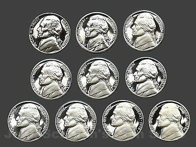 Decade Set of Proof Jefferson Nickels 1970-1979 (10 Coin Lot)