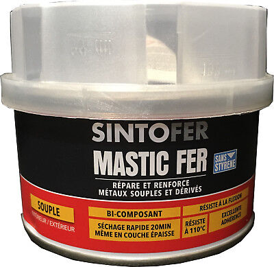 Mastic Polyester Bi Composant Souple Reparation Carrosserie  Pm 300Gr Sintofer