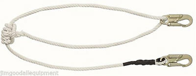Tree Climbers Adjustable Safety Lanyard,Double Braid Rope with Double Locking