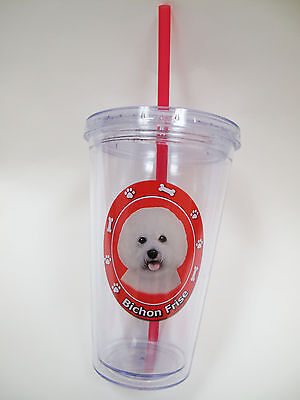 Bichon Frise Acrylic Double Wall Insulated Tumbler Puppy Dog Christmas Gift Cup