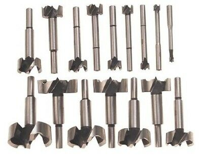 New 16pc Forstner Bit Set w/Case Wood Hole Forestner Clean Cutting Free Shipping
