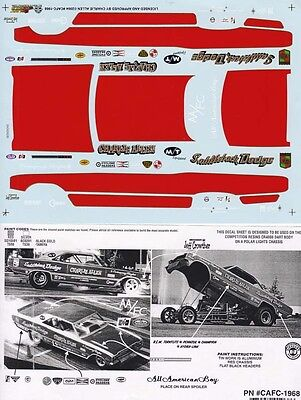 CHARLIE ALLEN SADDLEBACK DODGE 1/25th - 1/24th Scale WATERSLIDE DECAL #1968
