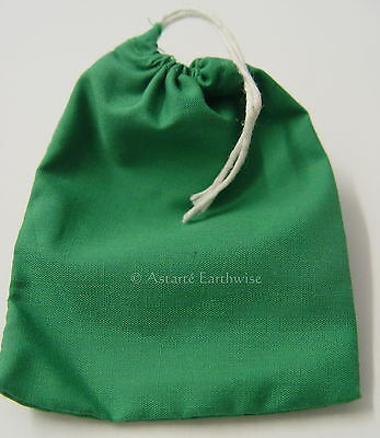 1 x GREEN COTTON BAG -  MOJO BAG  - SPELL BAG Wicca Pagan Witch Goth Spell