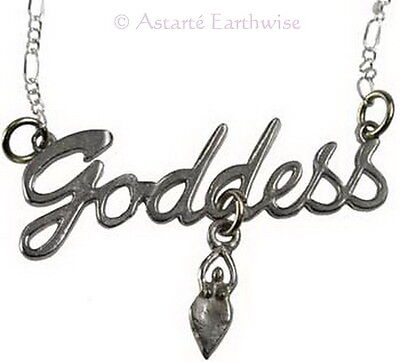 GODDESS NECKLACE Wicca Witch Pagan Goth