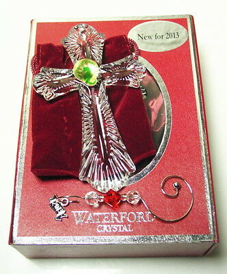 Waterford Crystal 2013 CROSS Christmas Ornament, New in Box!