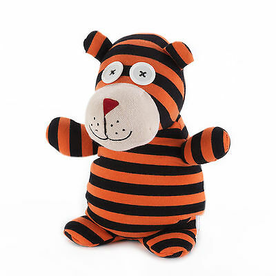 Intelex Microwavable Teddy The Tiger Socky Doll Heatable Real Sock Material
