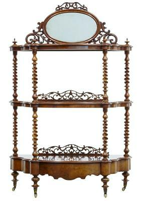 19Th Century Walnut Victorian What Not Stand