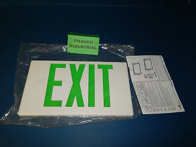 Sure-Lites 004-681 Exit Sign Replacement Cover Green Lettering 004681