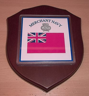 Merchant Navy Wall Plaque personalised free of charge.