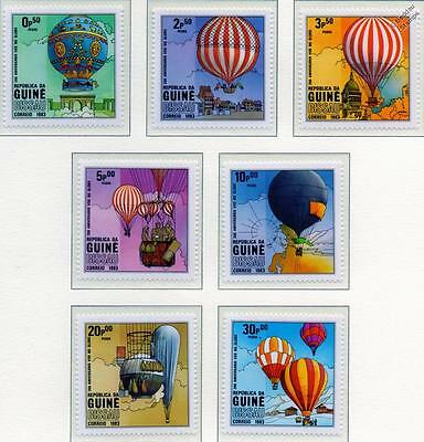 Flight Bicentenary Balloons & Ballooning Aircraft Stamp Set (1983 Guinea Bissau)