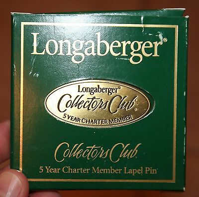 Longaberger Collectors Club 5 Year Charter Member Lapel Pin