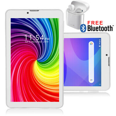 "Stylish 7.0"" Android 9.0 Tablet PC 4G LTE WiFi Google Play Store Camera w/ Flash"