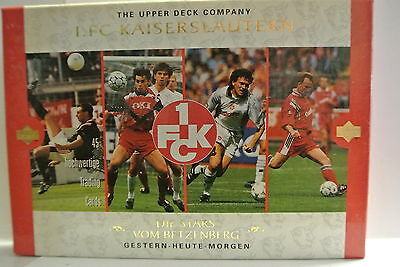 A boxed set of Upper Deck Football Trade Cards featuring Kaiserslautern in 1998.