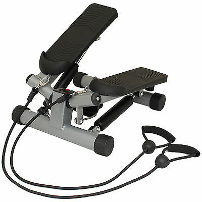 Mirafit Mini Twist Exercise Stepper & Arm Cords Stair Climber Gym Step Swing UK