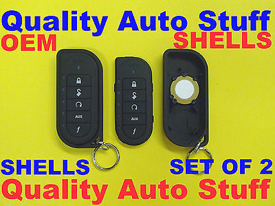 NEW OEM Lot Set of 2 Viper 2-Way Transmitter Remote Shell Case 7254V EZSDEI7251