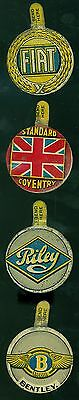 4 Vintage 1930s Magnet Comic Book Car Badges Tabs Fiat  Bentley Riley Coventry