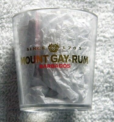 10 New Mount Gay Rum Plastic Shot Glasses 2 Oz Barbados