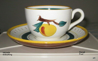 Vintage Stangl~FRUIT~Cup and Saucer~EUC