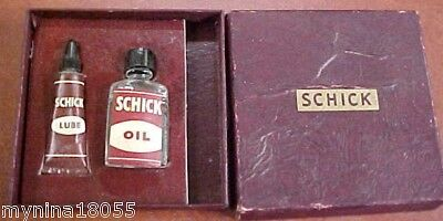 Vintage Boxed Set of Oil & Lube For Schick Razors