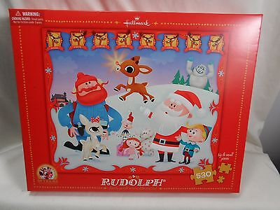 2014 Hallmark Rudolph The red Nosed Reindeer Family Puzzle 530 Pieces Loc B50