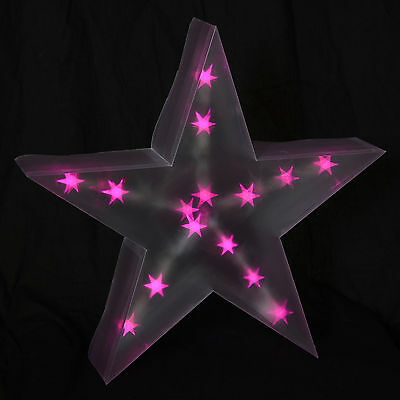 Light Up Battery Operated Star Christmas Home Free Standing Festive Decoration