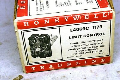 Honeywell Tradeline Limit Control switch L4069C 1173 F replaces many New in Box
