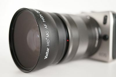 Wide Angle Macro Lens For Canon Eos Digital Rebel M3/2/10 EF-M18-55mm IS & STM