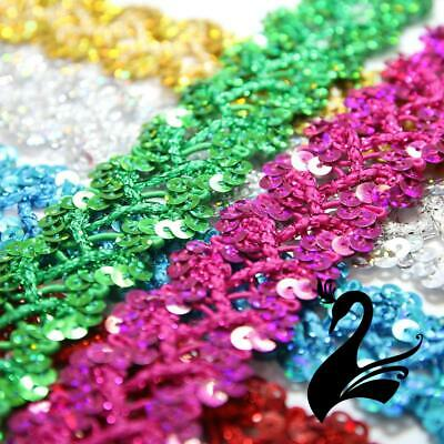 Sequin Trim - Criss Cross Cord w Tinsel Braid 2.5cm Style 5173 (Price per 1m) -