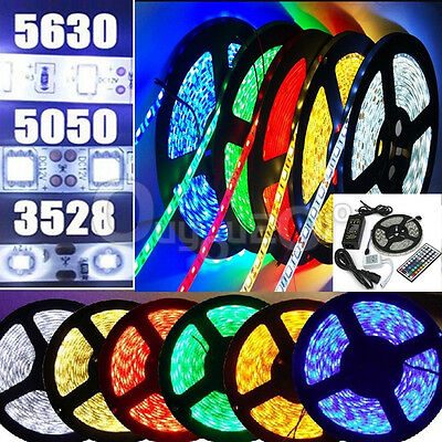 5M Bande Ruban LED Strip Flexible RGB 3528 5050 5630 SMD IP65 Etanche Fête Noël
