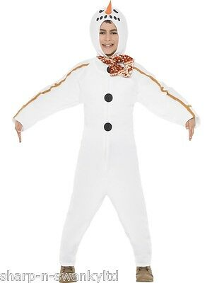 Kids Boys Girls Winter Snowman Christmas Festive Fancy Dress Costume Outfit