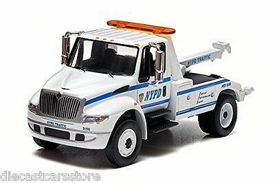 Greenlight Nypd 2013 International Durastar 4400 Tow Truck 1:64 New York Police