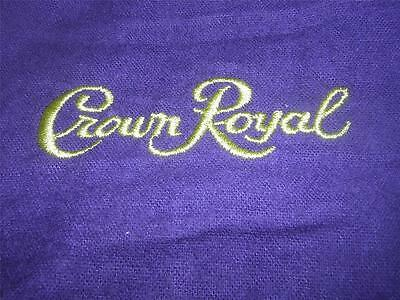 CROWN ROYAL Purple Cloth Drawstring Bags Lot of 2 Medium -- FREE USA SHIPPING
