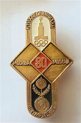 MOSCOW 1980 OLYMPIC GAMES WEIGHTLIFTING COMPETITIONS PIN LOGO